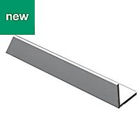 Anodised Aluminium Equal angle (H)20mm (W)20mm (L)1m