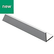Anodised Aluminium Equal angle (H)30mm (W)30mm (L)1m