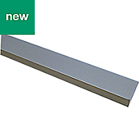 Anodised Aluminium Unequal angle (H)10mm (W)10mm (L)1m