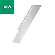 Anodised L-shaped Angle profile, (L)1m (W)40mm