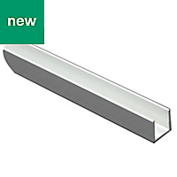 Anodised Aluminium Equal channel (H)20mm (W)20mm (L)1m