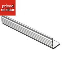 FFA Concept Anodised Aluminium Square edge Step edging, (H)20mm (W)17.5mm (L)1000mm