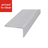 Raw Aluminium Step edging (H)40mm (W)14mm (L)1m