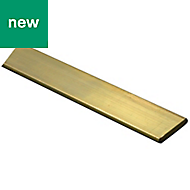 Brass Flat bar (H)2.5mm (W)7mm (L)1m