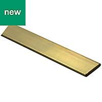 Brass Flat bar (H)2mm (W)10mm (L)1m