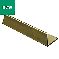 Brass Equal angle (H)10mm (W)10mm (L)1m