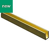 Brass Equal channel (H)6mm (W)6mm (L)1m