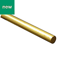 Brass Round Metal bar (L)1m (Dia)6mm