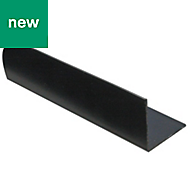 Black PVC Equal angle (H)15mm (W)15mm (L)2m