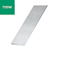 Raw Aluminium Flat bar (H)2mm (W)25mm (L)2m