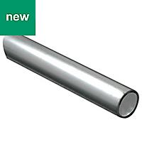 Raw Aluminium Round tube (H)1mm (W)12mm (L)1m