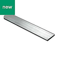 Aluminium Flat Bar, (L)1000mm (W)10mm (T)2mm
