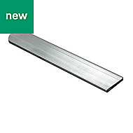 Raw Aluminium Flat bar (H)2mm (W)10mm (L)1m
