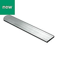 Silver effect Bar (W)15mm