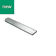 Raw Aluminium Flat sheet (H)2mm (W)20mm (L)1m
