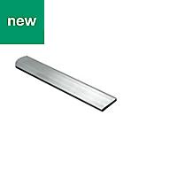 Aluminium Flat Bar, (L)1000mm (W)25mm (T)2mm