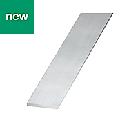 Raw Aluminium Flat sheet (H)2mm (W)25mm (L)1m