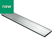 Aluminium Flat Bar, (L)1000mm (W)15mm (T)2mm