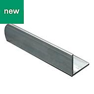 Aluminium Equal angle (H)15mm (W)15mm (L)1m