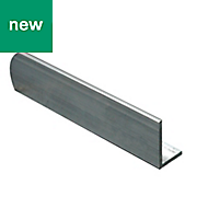 Aluminium L-shaped Unequal angle (H)10mm (W)15mm (L)1m