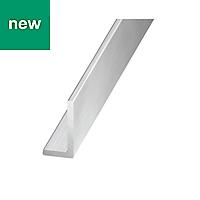Aluminium Unequal angle (H)10mm (W)10mm (L)1m