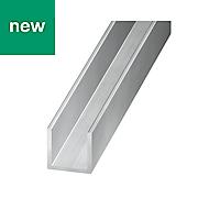 Aluminium Unequal channel (H)10mm (W)20mm (L)1m