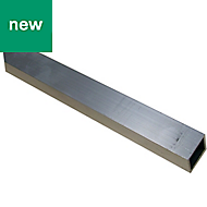Light grey Aluminium Square tube, (W)20mm (L)1m