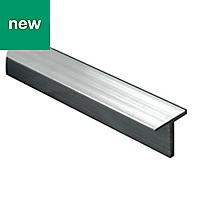 Silver effect T-shaped Channel, (L)1m (W)15mm