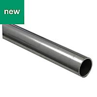 Varnished Cold-pressed steel Tube (H)1mm (W)8mm (L)1m