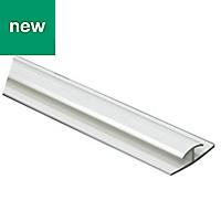 White PVC Connecting profile (H)5.5mm (W)8mm (L)1m