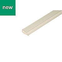 White PVC Finishing profile (H)6mm (W)14mm (L)1m