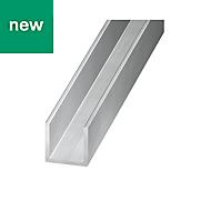 Aluminium Equal channel (H)6mm (W)6mm (L)1m