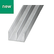 Aluminium Channel (H)10mm (W)16mm (L)2m