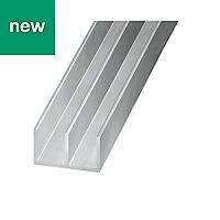 Powder-coated Double U-shaped Channel, (L)2m (W)16mm