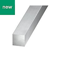 Aluminium Square profile (H)6mm (W)6mm (L)1m