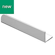 White PVC Equal angle (H)10mm (W)10mm (L)1m