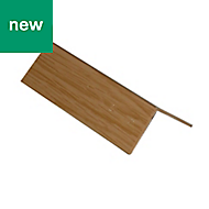 Oak effect PVC L-shaped Equal angle (H)10mm (W)10mm (L)1m