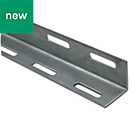 Varnished Cold-pressed steel Equal angle (H)38mm (W)38mm (L)2m