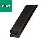 Black PVC Unequal channel (H)4mm (W)4mm (L)1m