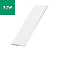 Painted White Aluminium Flat sheet (H)2mm (W)30mm (L)1m