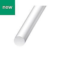 White Polyester & Fiberglass Plastic rod (H)3mm (L)1m