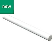 White Composite Round Bar, (L)1m (Dia)4mm