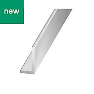 Aluminium L-shaped Unequal angle (H)10mm (W)15mm (L)2.5m