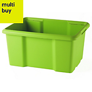 Fitty Green 26L Plastic Stackable Storage crate
