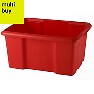 Fitty Red 26L Plastic Stackable Storage crate