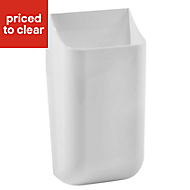 Hang-It White 0.14L Plastic Medium Box
