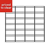 Walltech Wall mountable Black Metal grid (L)483mm (W)534mm (D) 10mm
