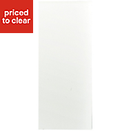 IT Kitchens Santini Gloss White Slab Standard Cabinet door (W)300mm