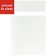 IT Kitchens Santini Gloss White Slab Drawerline door & drawer front, (W)500mm