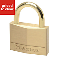 Master Lock Brass 4-pin tumbler cylinder Open shackle Padlock (W)45mm